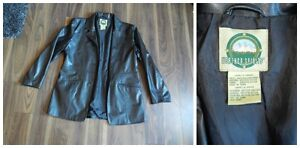 "Ladies Medium ""Pleather"" faux leather jacket"