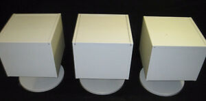 3 Pcs.Vintage 1960's - 1970's Retro Stereo/Storage Stands