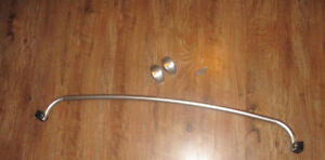 Curved Shower Rod in Brushed Nickel