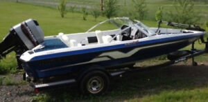 185SF - 1998 18.5 foot fish & ski // bass boat with 115 Hp Merc