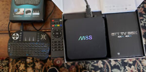 M8Q TV BOX with keyboard remote