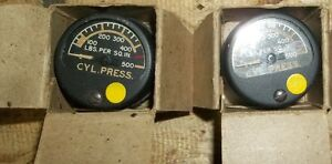 3 - CYLINDER PRESSURE GAUGES  0 to 500 lbs. NEVER USED Belleville Belleville Area image 1
