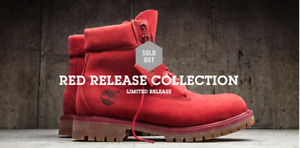 Brand New Size 11 Mens Red Limited Release Timberland Boots
