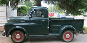 Looking for a 1948 to 50 Dodge or Fargo Pick up for parts.