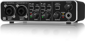 Behringer UMC202 U-PHORIA USB Audio Interface-NEW IN BOX