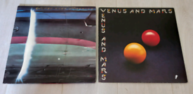 X2 Wings Vinyl LPs. Venus & Mars, Wings Over America live album