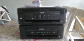 2 x Epsom WiFi printers, spares / repair XP 322, XP-202 + set of ink