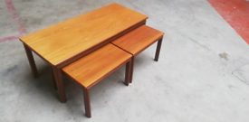 G plan coffee table with side tables
