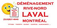 DÉMÉNAGEMENT A PRIX FIX /LAVAL/RIVE-NORD/ MONTREAL