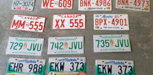 Assorted Licence Plates