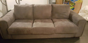 Grey Microsuede Couch in good condition