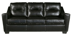 DUPREE GENUINE LEATHER SOFA - $1399 NO TAX- FREE DELIVERY