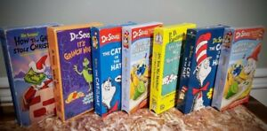 DR SEUSS -Vintage VHS tapes lot one sealed cat in the hat Grinch