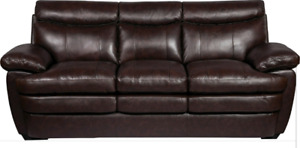 Genuine Leather Sofa and Love Seat for Sale
