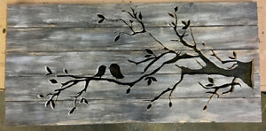 Custom hand made rustic wood signs silhouettes