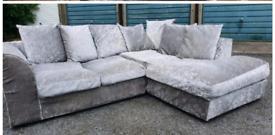 Crushed velvet sofas £130 can deliver