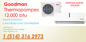 THERMOPOMPE MINI-SPLIT MURAL CLIMATISEUR PROMOTION (514)316-2973