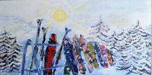 Snowboards - Original painting