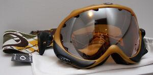 OAKLEY WISDOM SNOW SKI GOGGLES ORANGE GOLD, BLACK IRIDIUM LENS