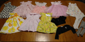 Lot of fancy baby dresses size 9-12 mos