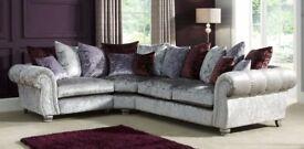 SCS Quantas Silver Velvet Large Corner Sofa – RRP £2500