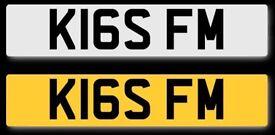 K16 SFM - Kiss fm - Radio, Dj cherished registration private number plate.