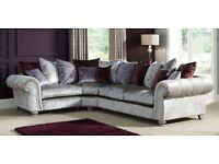 SCS Quantas Silver Velvet Large Corner Sofa – RRP £2999