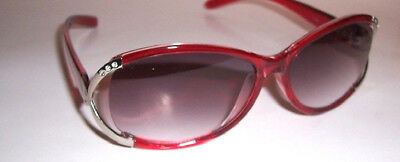 2.25 LIGHTLY TINTED READING GLASSES SUN READERS 225 FULL LENS BURGANDY (Red Tinted Glasses)