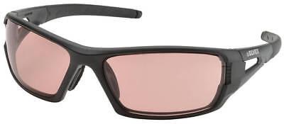 Elvex Rimfire Safety Glasses Matte Black Frame Light Copper Anti-Fog Lenses Copper Lens Matte Black Frame