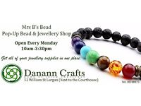 Drop in Bead classes for all ages in our Pop up shap