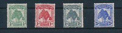 """Gilbert & Ellice Islands #8-11 """"PANDANUS"""" SET OF 4 (1911); MH; CV $22.50"""