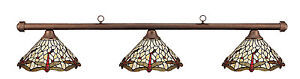 Autumn-Rustic-Dragonfly-Shades-Pool-Table-Light-NEW