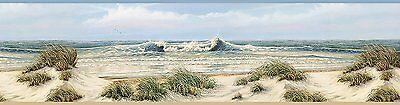Falmouth Beige Chesapeake Beach Sand Dunes Easy Walls Wallpaper Border DLR53611B