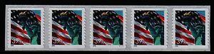 3980-Flag-Liberty-S-A-PNC-5-Pl-V1111-MNH