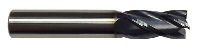 38 4 Flute Carbide End Mill - Regular Length - Tialn Coated