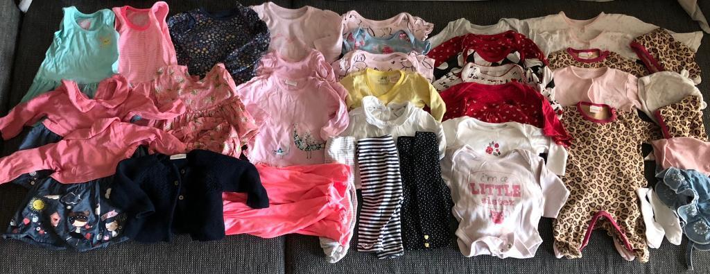 a50d35919e45 BABY GIRL CLOTHES BUNDLE 0-3   2-4 Months