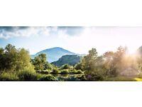 "Landscape Panoramic Photo Canvas - 10x26"" / 25x66cm - Snowdonia"