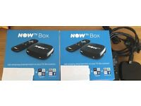 x2 Brand New Now TV Boxes (black) x1 Now TV Box (black, used)