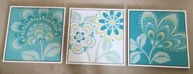 floral wall canvases from Next