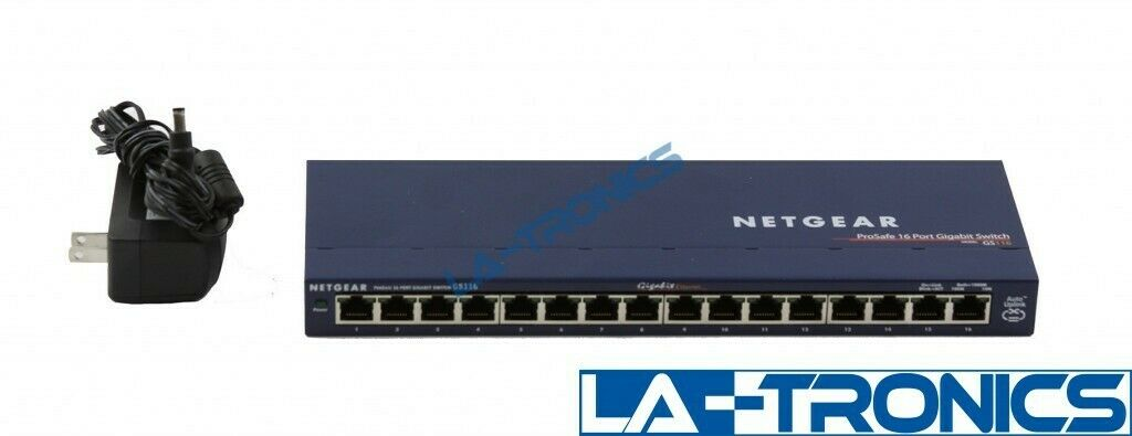 NETGEAR ProSafe GS116 16-Port Gigabit Ethernet Unmanaged Switch