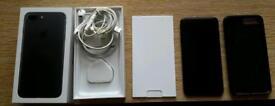 IPhone 7 Plus 128 GB Matte Black Factory Unlock over 7 months Apple guarantee left