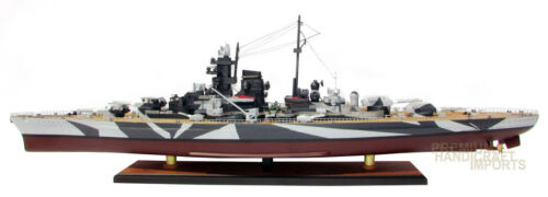 "Quality Handcrafted Tirpitz 39"" Wooden Warship Ready Display Model"