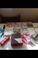 Wii 2 controllers and 6 games