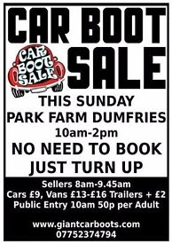 Car Boot Sale Sunday 25th June