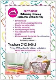Blitzright Quality cleaning services ( Torbay ) £7.50 per hour