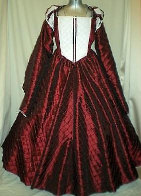 Elizabethan Tudor Renaissance Juliet Dress Gown, Your Size Busts 32