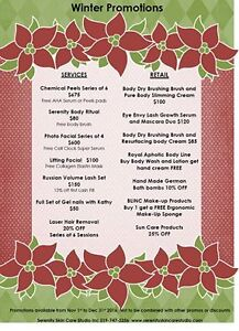 Spa Treatments Christmas Specials Kitchener / Waterloo Kitchener Area image 1