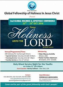 YOU ARE INVITED TO HOLINESS UNTO THE LORD (CONFERENCE)