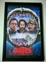 Jaws print with black frame new condition ! open to offers