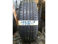 235-50-18 Continental ContiSportContact 5 97V 7mm Part Worn Tyre